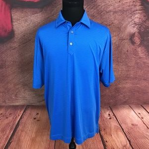 FootJoy FJ Blue Striped Polo Shirt XL